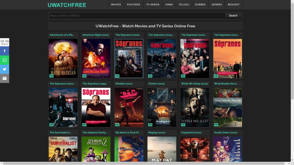 UWatchFee movieshunters movies streaming website